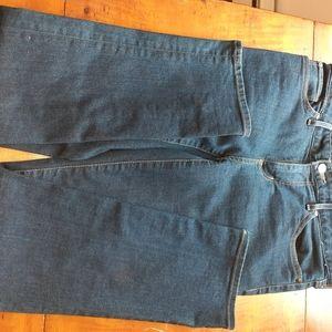 Eddie Bauer 8 x 30 dark wash denim jeans